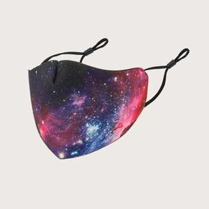 NWT Galaxy face mask covering neon